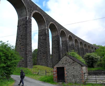 Cynghordy viaduct on the Heart of Wales line