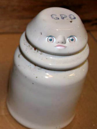 A ceramic dolly