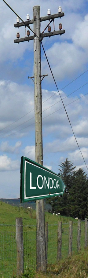 Telegraph Poles can point the way to London