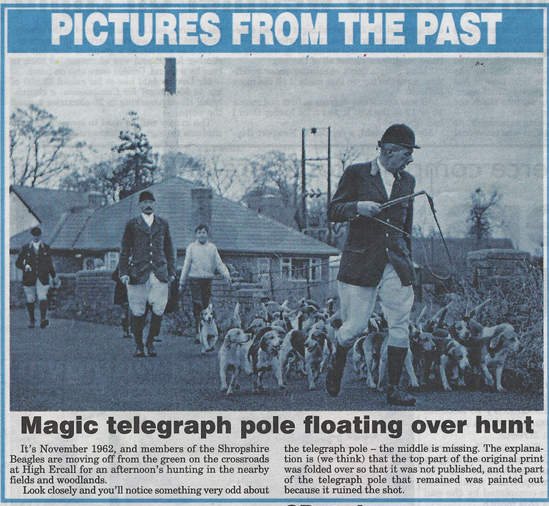 Shropshire Star has more stories about telegraph poles than any other paper