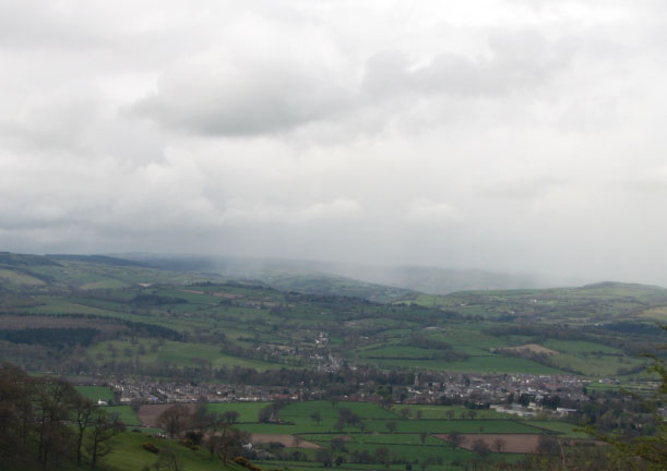 Ruthin from the Clwyd Gate
