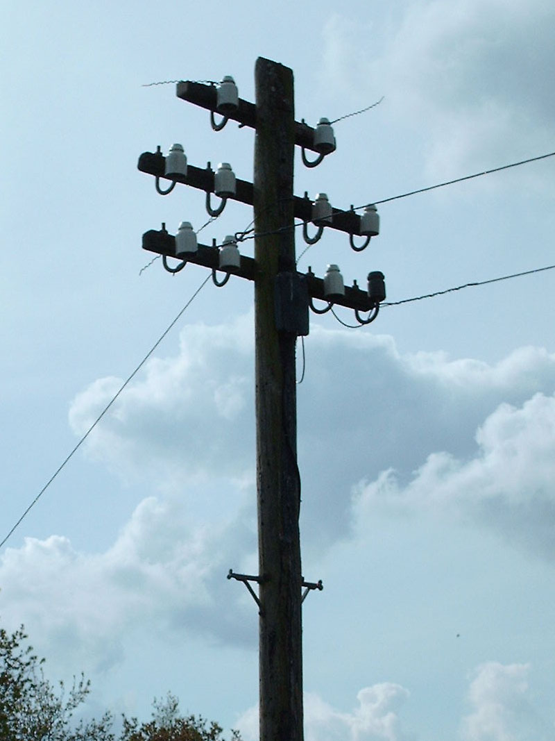 Telegraph Pole #1 from the front