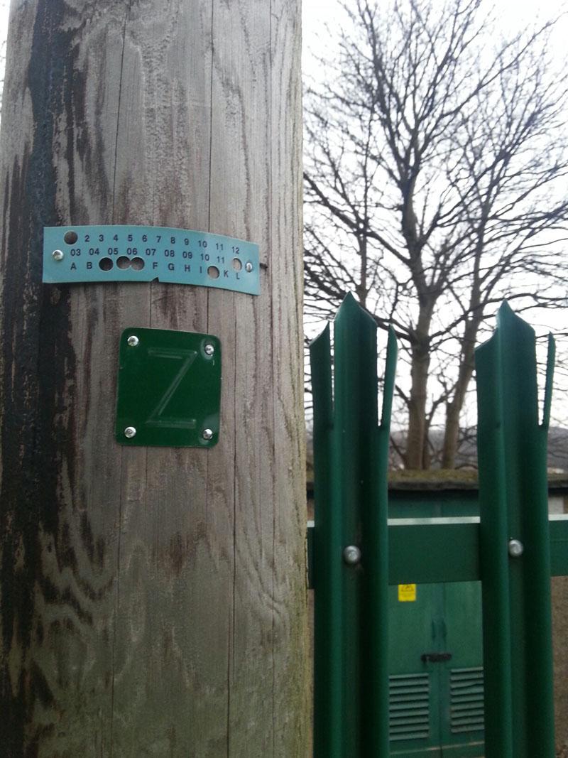 Markings The Telegraph Pole Appreciation Society